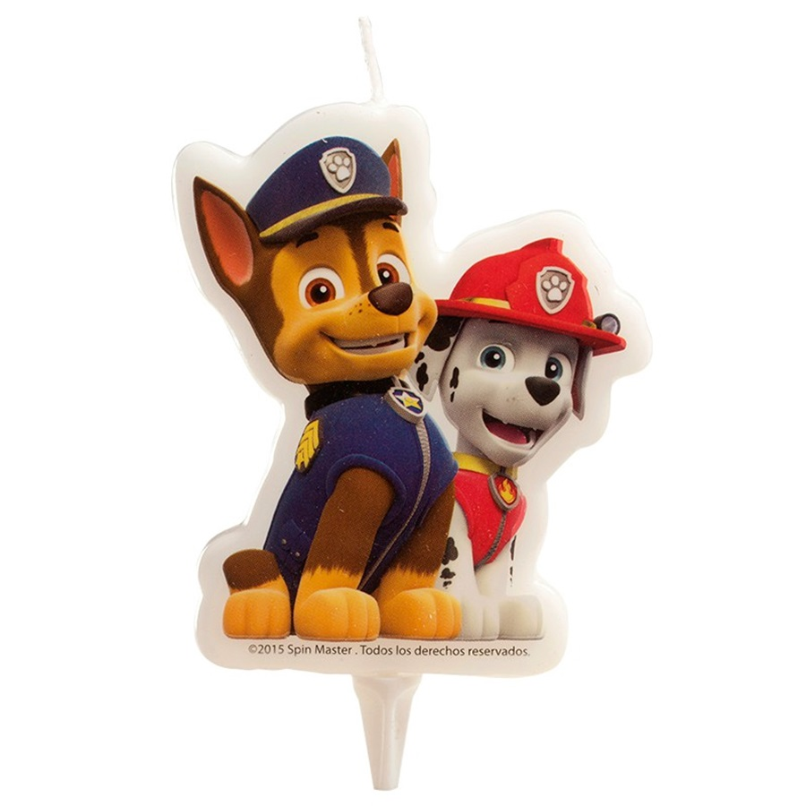 Vela de cumpleaños Patrulla Canina Chase y Marshall