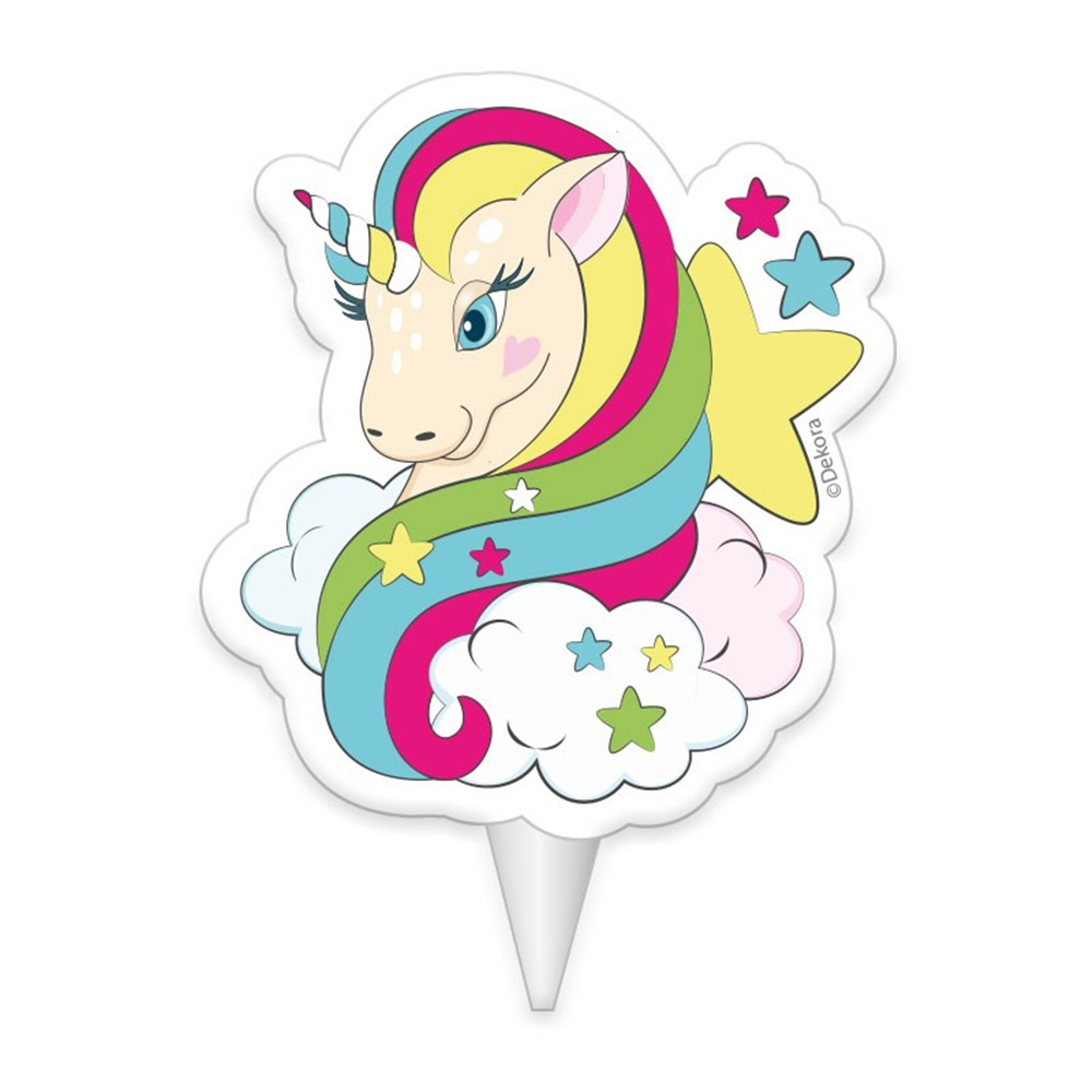 Vela De Cumpleanos Unicornio Comprar Online