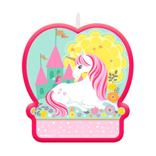 Vela de Cumpleaños Unicornio
