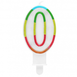 Vela Multicolor Purpurina Número 0