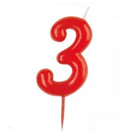 Vela Nº 3 Roja
