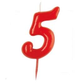 Vela Nº 5 Roja