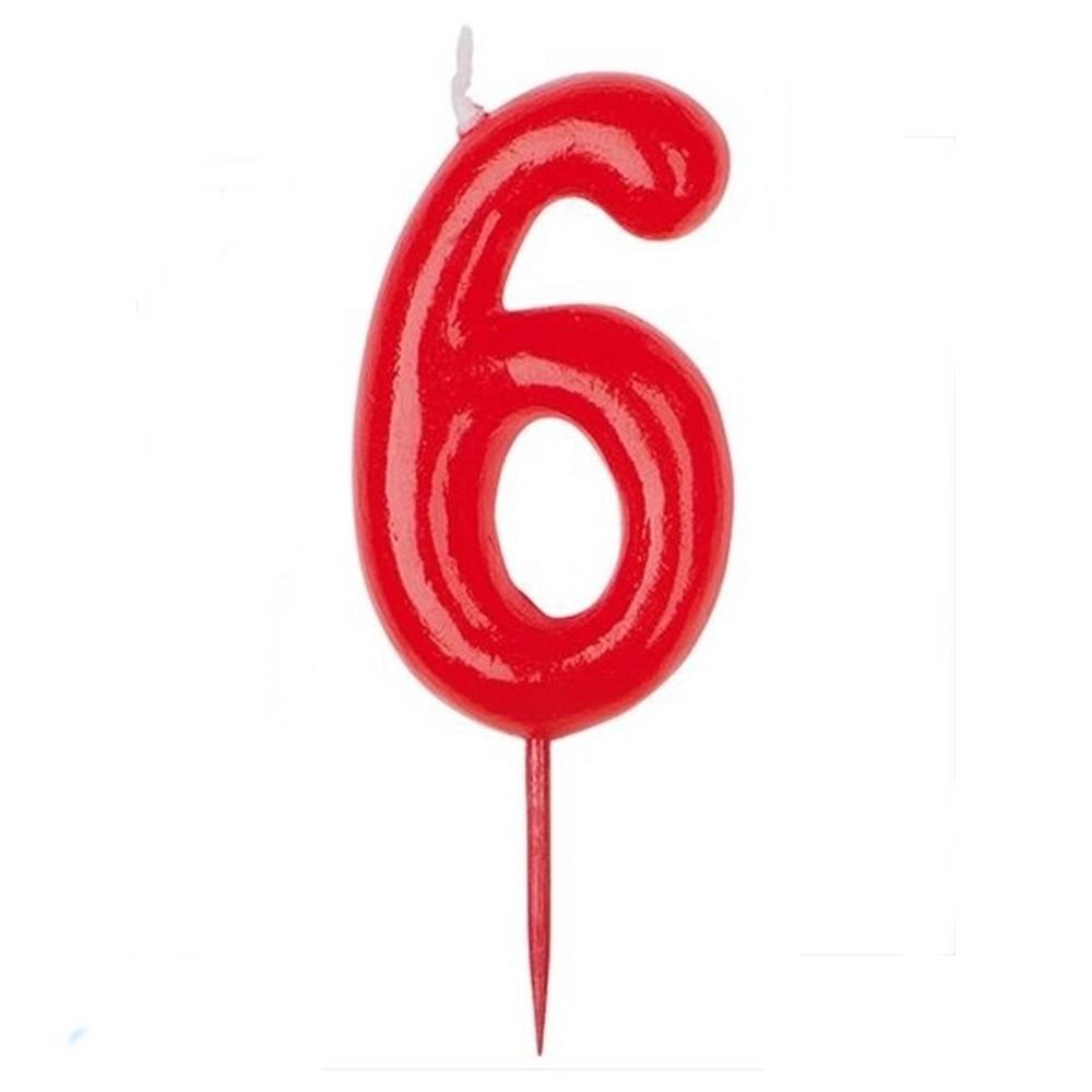 Vela Nº 6 Roja
