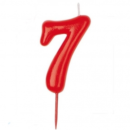Vela Nº 7 Roja