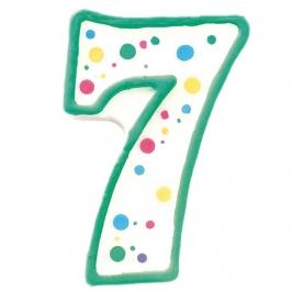 Vela de cumpleaños Nº 7 verde