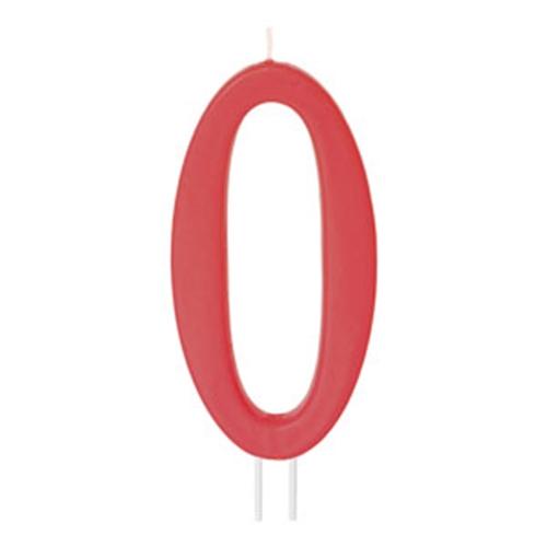 Vela Número 0 Roja 12cm