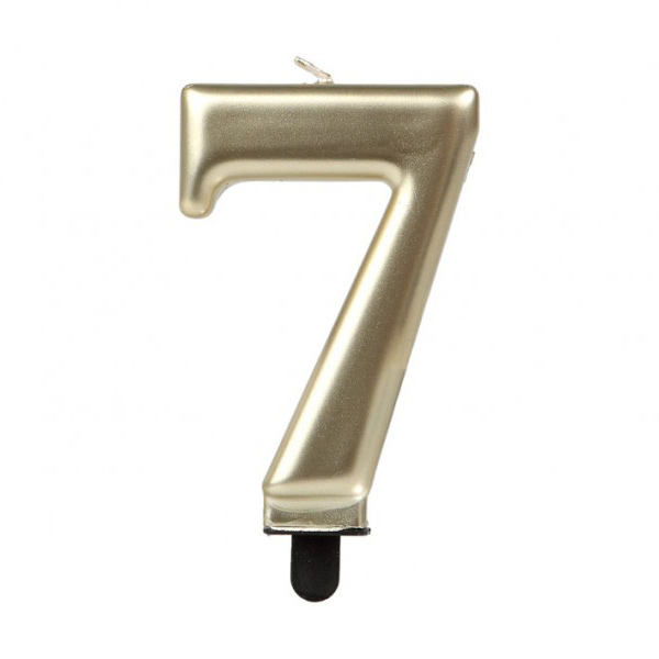 Vela Número 7 Dorada 7 cm