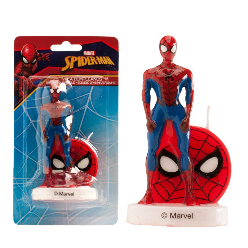 Vela Spiderman 9 cm