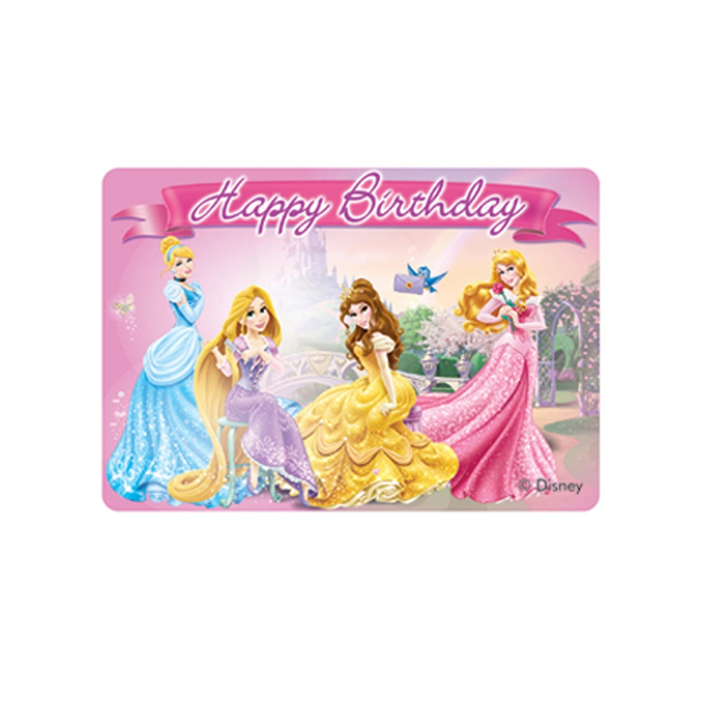 Vela Feliz Cumpleaños Princesas Disney