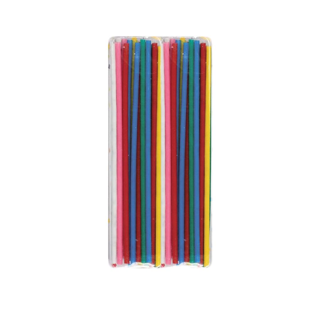 Juego de 24 Velas Alargadas Multicolor