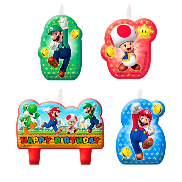 Velas de Cumpleaños Super Mario