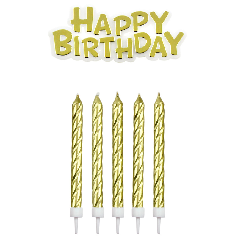 Velas Doradas Happy Birthday
