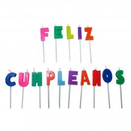 Velas Feliz Cumpleaños Multicolor