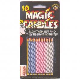 Juego de 10 velas Mágicas