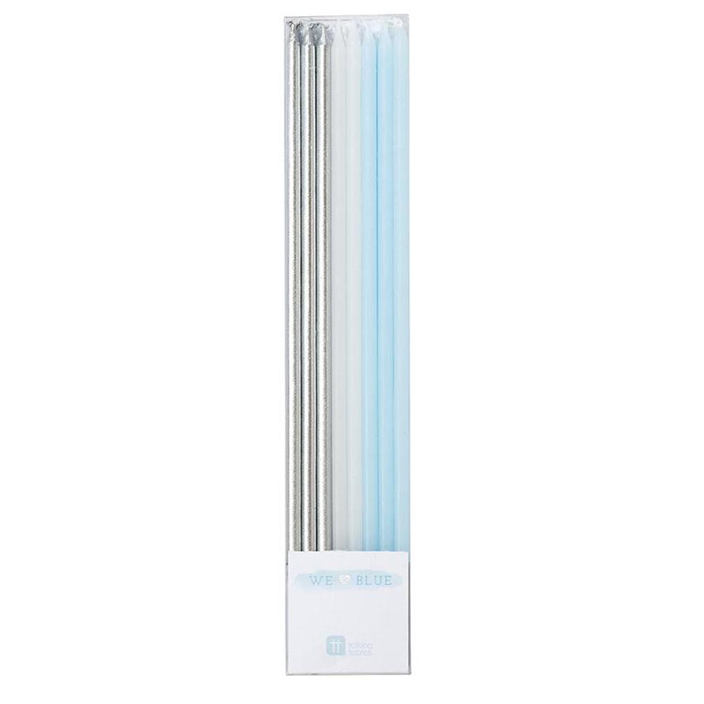 Velas Plata Azul Blanco