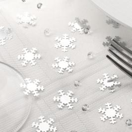 Confetti y diamantes decorativos Snowflakes