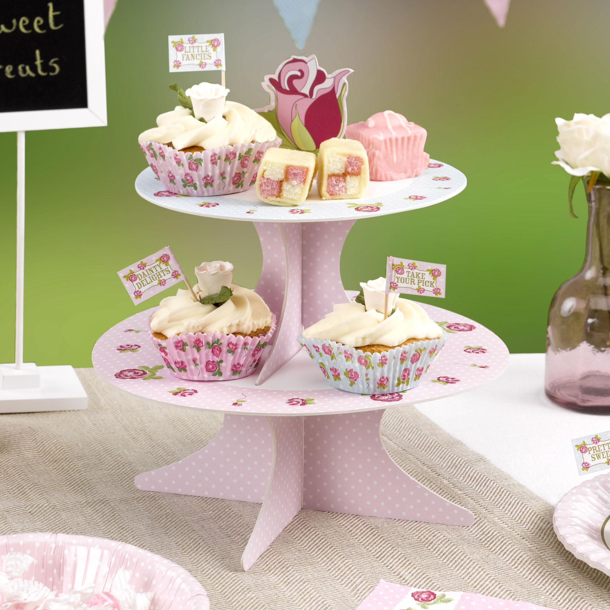 Stand para Cupcakes Reversible Vintage Rose