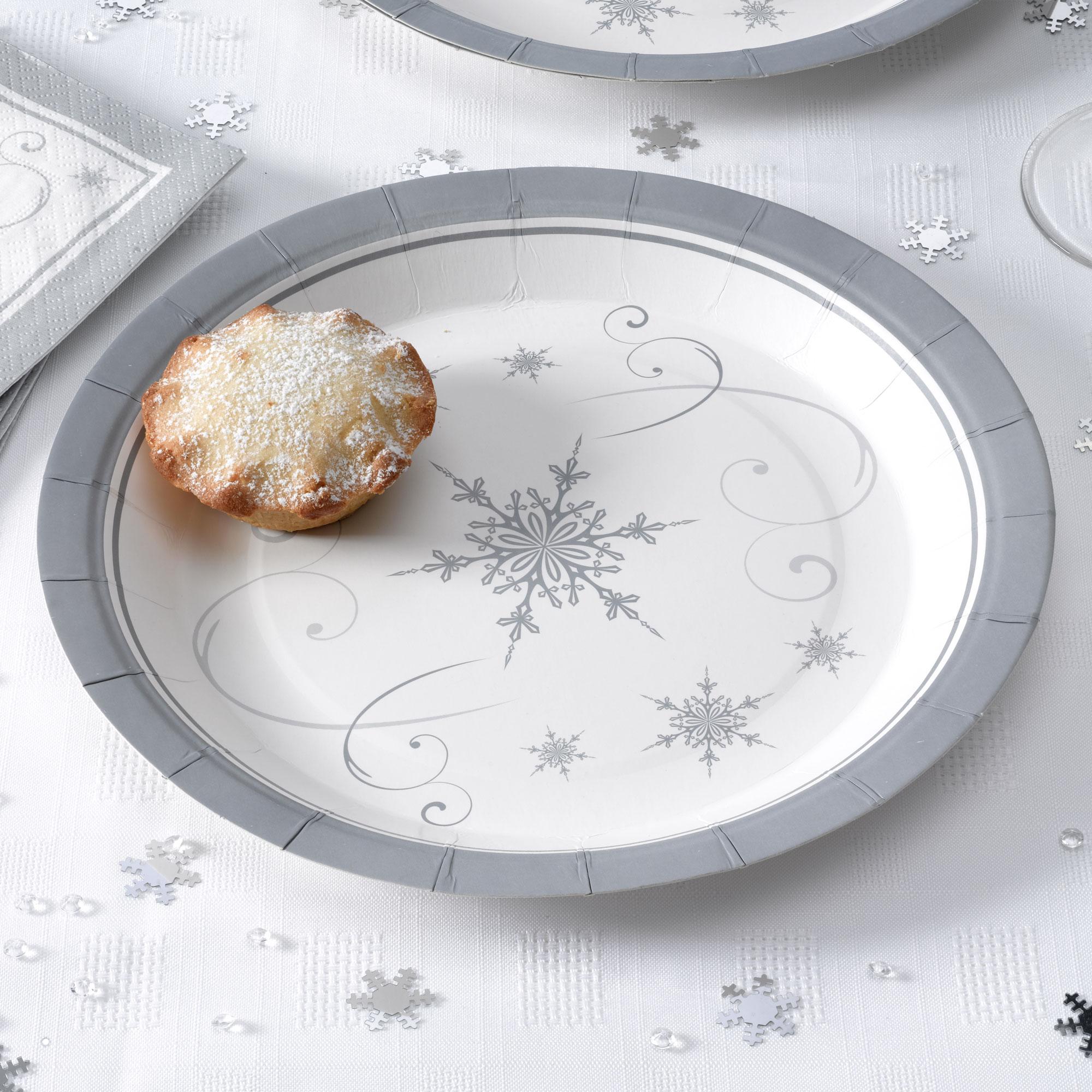 Juego de 8 platos Snowflakes