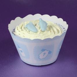 Cupcake Wraps Baby Blue