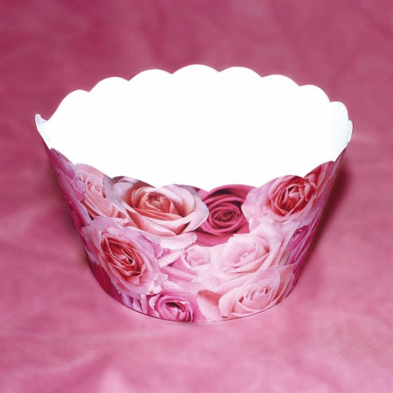 Cupcake wraps Pink Rose