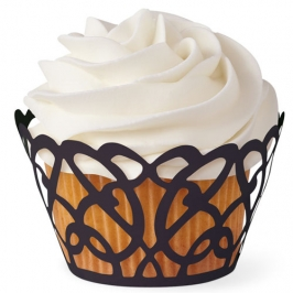 Cupcake Wraps Swirls Black
