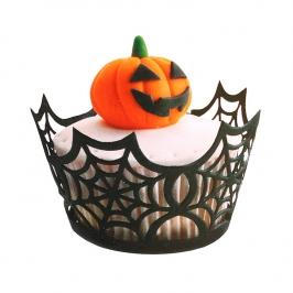 Cupcake Wraps telaraña 10 uds