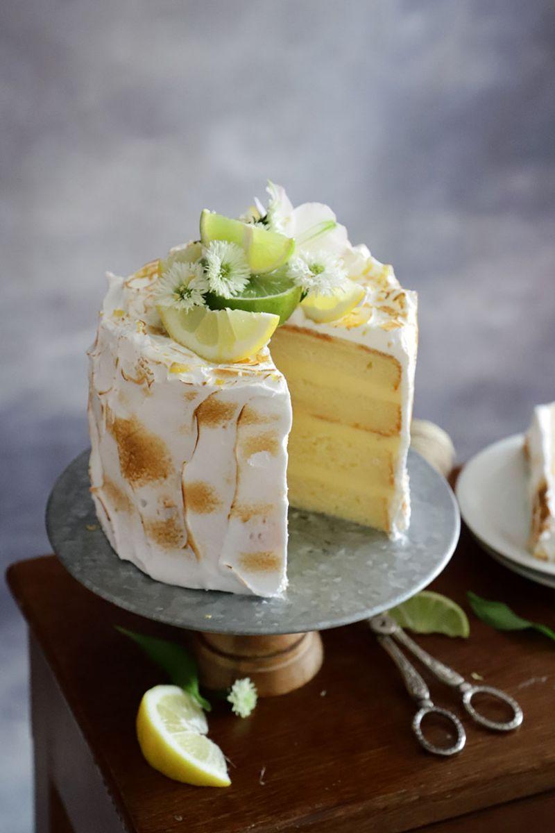Layer Cake de Limón y Merengue