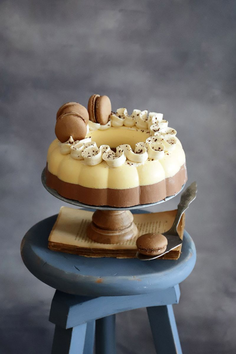Tarta Helada de Chocolate y Naranja