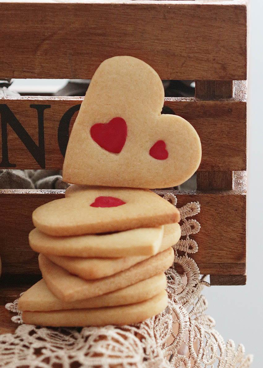 receta galletas corazon