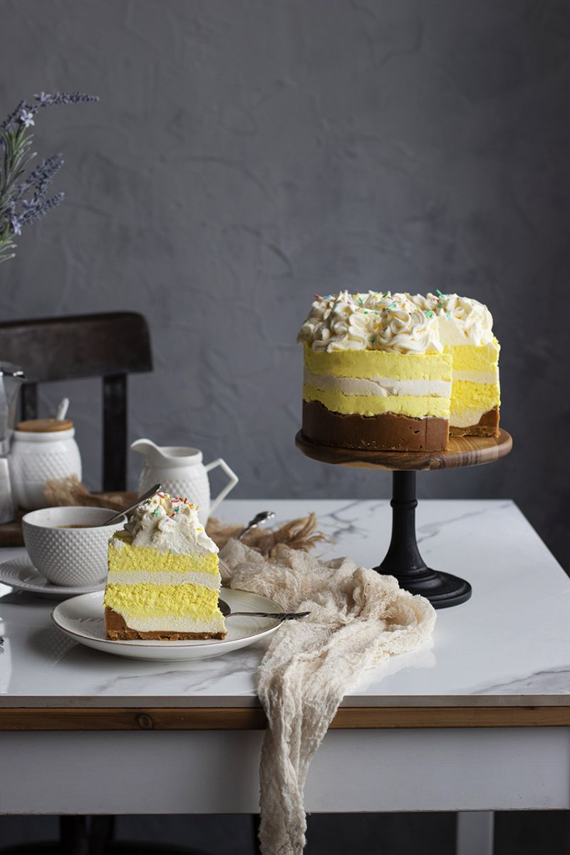 tarta mousse de chocolate blanco y limón