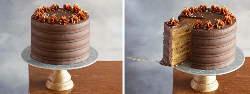 tarta de platano y chocolate