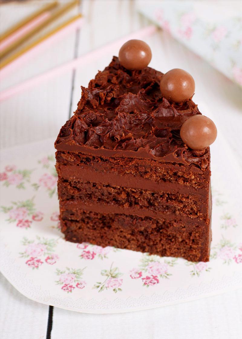 Tarta del diablo o devil food cake
