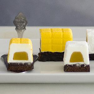 Mini Buche de chocolate blanco y de mango