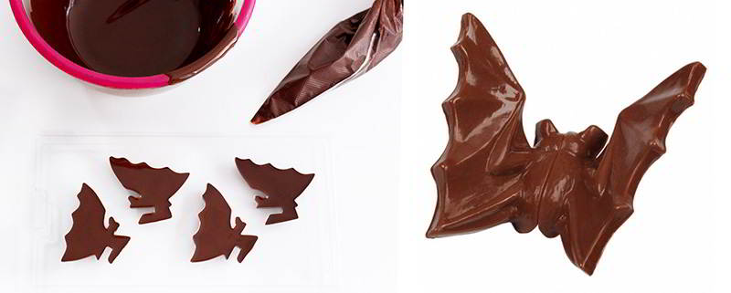 murciélagos de chocolate