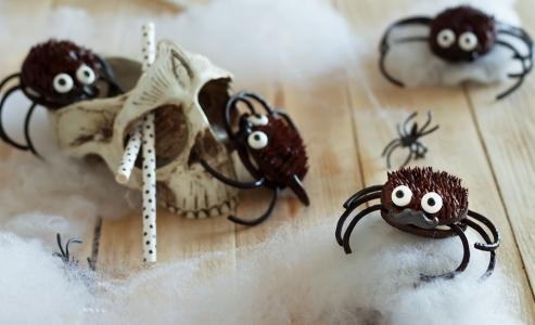Arañas de Oreo para Halloween