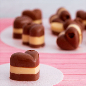 Para San Valentín bombones de chocolate Marroc