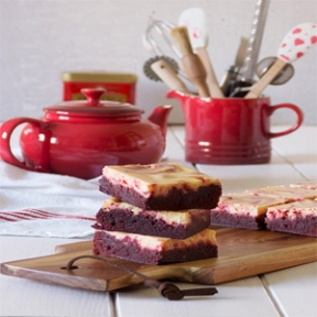 Brownie Cheesecake y Red Velvelt ¡el más rico de los Brownies marmolados!