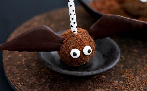 Cake Pops murciélago para Halloween