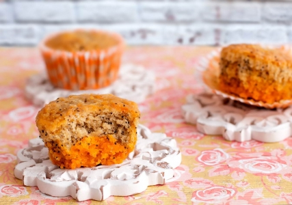 Cupcakes de amapola y naranja