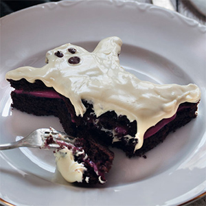 Fantasmitas de chocolate y Frambuesa para Halloween