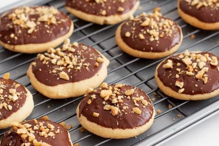 Galletas de cacahuete y chocolate