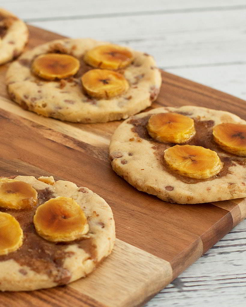 galletas de plátano con nueces y chocolate