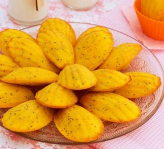 Madeleines de naranja y amapola