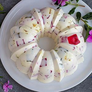 Tarta Mosaico de Gelatina de Yogur