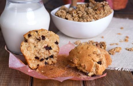 Muffins de Chocolate y Muesli