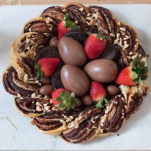 Nido de Pascua de Hojaldre y Chocolate