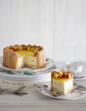 Charlota de Fruta de la Pasión y Mango