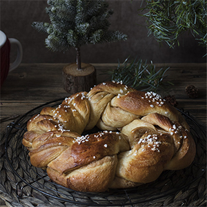 Trenza Dulce para Navidad