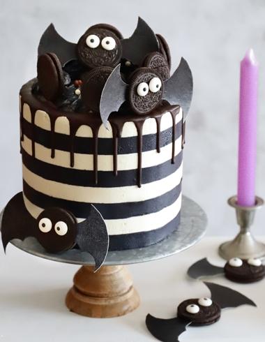 Striped Cake o Tarta de Rayas Halloween