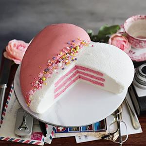 Tarta San Valentín Corazón Pink Velvet